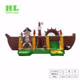 Nave di pirata gonfiabile interessante del parco di divertimenti divertente con la trasparenza di rimbalzo per i capretti che godono di grande esercitazione di sport