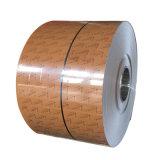 Du grain du bois d'alliage en aluminium bobine pour tube carré imitation bois