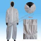 長い袖のWorkmensの使い捨て可能で安い安全Workwearのつなぎ服