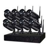 камера слежения CCTV набора P2p NVR пули 8CH 960p WiFi с блоком СИД