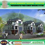 Casa pré-fabricada Prefab do jogo modular concreto do baixo custo da prevenção do terremoto