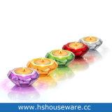 Tealight를 위한 다이아몬드 Style Colorful Glass Candle Holders