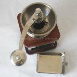 コーヒー豆挽器が付いているステンレス鋼マニュアルの調節可能な陶磁器のぎざぎざ