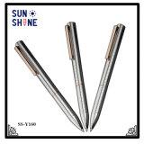 Stylo bille de luxe en métal de marque exécutive à extrémité élevé de crayon lecteur