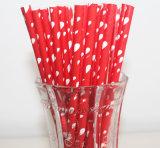 Paja de beber de papel colorido caliente para la bebida fría / caliente