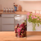 O vidro selado enlata o frasco do vidro da vela do tanque de armazenamento do alimento da cozinha