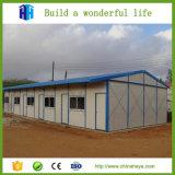 Chalet prefabricado de la casa del PVC de la azotea de aguilón de Premade en Argelia
