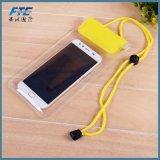Bolso impermeable de deriva del teléfono del PVC de la pantalla táctil del teléfono móvil de la natación