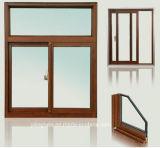 Hölzernes Korn-stichhaltige Isolierungs-gleitendes Aluminiumfenster