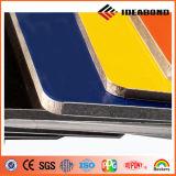 Panneau composé en aluminium bleu jaune vert enduit de PVDF