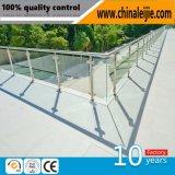 Balustrade en verre extérieure de balcon d'acier inoxydable