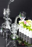 Glaswasser-Rohrglasrohr mit Loch-Filtrierapparat für das Glasrauchen