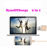 Nylon Braided USB2.0 Cable Sync & Charge Cord Wire para Ios