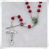 I branelli di legno religiosi il rosario, cattolico borda i rosari (IO-cr338)