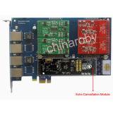 4 Ports、FXS Board FXO Board、PCI-Eを使ってEchoの消印器Aex410 Asterisk Cardを使って
