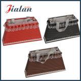 La corda della maniglia del nastro a buon mercato personalizza la decorazione del merletto personalizza il sacco di carta