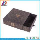 Rectángulo de regalo clásico del cajón de la categoría alimenticia de la cartulina del sellado de oro del diseño