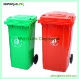 Plástico exterior Wheelie permanente Bin para basura