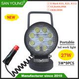 Ordinateur de poche Allumecigarette projecteur Spotlight de fixation de l'aimant 4inch 27W phare de travail à LED