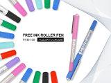 Snowhite Pvn159針のペン先7カラーインクが付いている液体インクローラーのペン