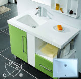 20 par les bassins de cuisine rectangulaires de porcelaine d'Undermount de 15 pouces (SN018)