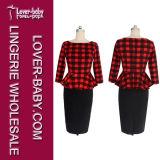 크기 최신유행 옷 (L36117-1) 플러스 형식적인 여자 복장