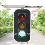 Luz Rojo-Verde del tráfico solar de la luz de señal de la calle del tráfico del LED
