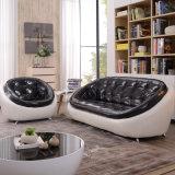 Casual rodada Creative couro sofá 123