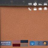 ソファーの革および車の内部の家具製造販売業のための現代PVCレザー。 試供品