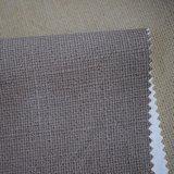 Micro couro de sapata sintético gravado do saco do plutônio do Weave de cesta textura
