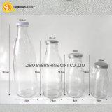 Hersteller-preiswerter Verkaufs-Glasmilchflaschen mit Schutzkappen