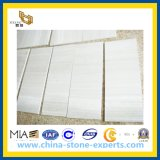 壁、床、カウンタートップのための木の白い大理石の石造りのタイル
