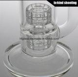 Fatto del tubo libero di vetro dell'acqua del narghilé di vetro di Shisha per il fumo della vasca di gorgogliamento stereo del Borosilicate di Perc della tabella di Mobius