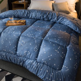 印刷されたホーム織物ポリエステルMicrofiberの慰める人の寝具のキルトの一定のキルト
