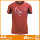 T-shirt solide de sport de la mode des hommes
