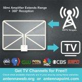 Antenna bianca di HDTV con l'amplificatore per uso della TV