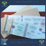 Biglietto del provino della carta di numero del codice a barre