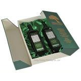 Luxe 2 bouteille de vin de boîte d'emballage en carton de papier
