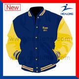 판매를 위한 Healong ODM 서비스 의류 기어 자수 로고 남자의 야구 재킷