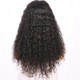 Parrucca anteriore riccia dei capelli umani del merletto del Jerry di densità di 150% per la donna di colore