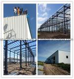 Estrutura do portal edifícios de aço industrial de metal com Guindaste