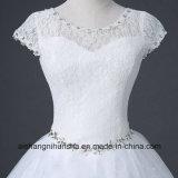 O vestido de casamento nupcial do estilo coreano ata acima o vestido de casamento