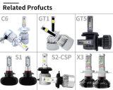 Neuester Doppelscheinwerfer des farben-Auto-LED mit Auot 6000K Scheinwerfer-Konvertierungs-Installationssatz und LED 3000K superhellem (9004/9007/H13/H4)