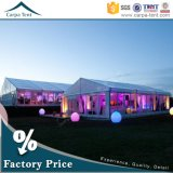 Europäisches Style 25X35m White PVC Fabric Glass Wall Party Ceremony Tent für 500 People