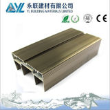 Perfil de alumínio anodizado para caixilhos de vidro corrediço