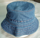 新しい方法昇進の子供のデニムの美しい刺繍釣帽子