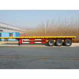 Aanhangwagen van de Container van de tri-as 40FT Flatbed
