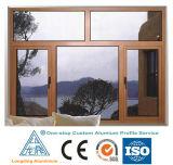 Perfil de alumínio de acabamento de cor de madeira para porta deslizante horizontal