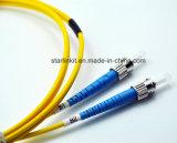 Kabel van het Koord van het Flard van de Vezel van de Wijze van Sc FC de Duplex Enige Optische