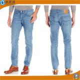 Новая мужская тонкий установите прямой деним брюки джинсы синего цвета
